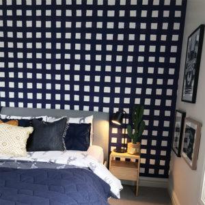 gingham wallpaper