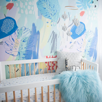 Nursery removable wallpaper