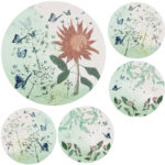 Trudy-Rice-Butterflies-Round-60cm-and-4x30cm