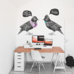 Hipster Birds with speech bubbles