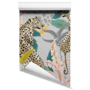 Leopard Feathers wallpaper