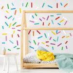 DIY colorful kid's bedroom interior