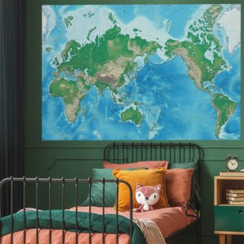 Detailed World Map decal