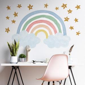 Glitter Rainbow Pastel
