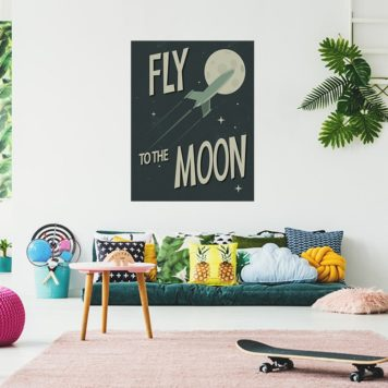 Fly to the moon poster