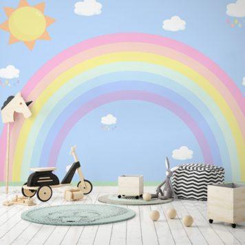 Sunny Days Rainbow Mural