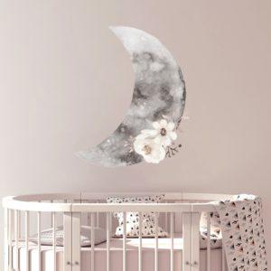 watercolour half moon