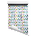 watercolour rainbows wallpaper on roll