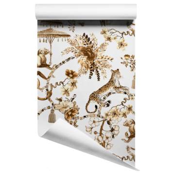 Chinoiserie Jungle Wallpaper Bronze
