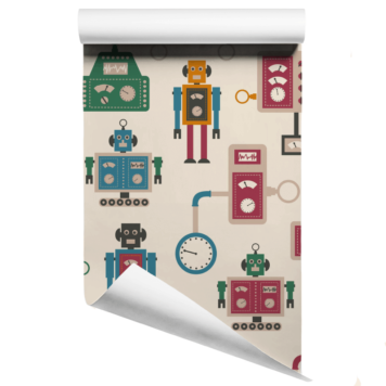 Robots and Machines Wallpaper Large Print