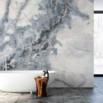 Bathroom interior. Wall mockup. Wall art. 3d rendering, 3d illus
