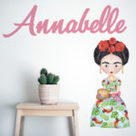 Sisterhood Icon design in Parrot dress with name in Carrot