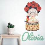 Sisterhood Icon design in Red with name in Mint