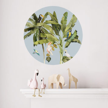 Birds Life roundabout wall sticker