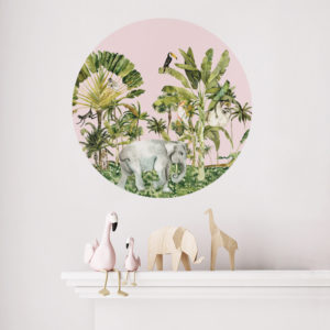 Jungle Life roundabout wall sticker