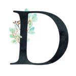 D Eucalyptus Letter