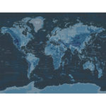 Soft Furnishings World Map both colour ways