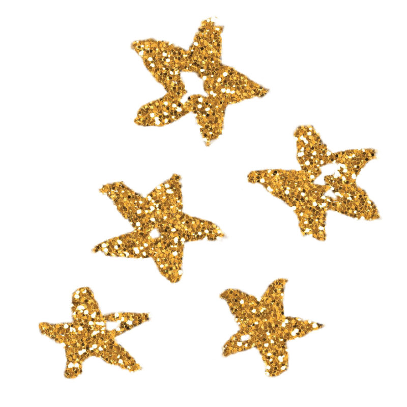 gold coloured glittery stars design