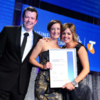 The Wall Sticker Company accepting their Telstra Business Award