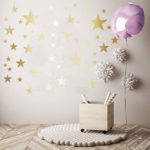 mock up poster in interior background with party decoration, 3D