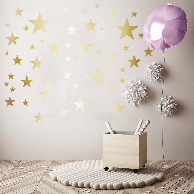 metallic gold stars