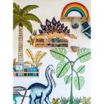 Dino Raw Jungle Dinosaurs and palm trees 1 Lifestyle