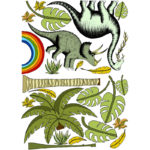 Dino Raw Jungle Dinosaurs and palm trees 2 AF