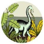 Dino Raw dinosaur round bronte