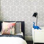 Cubes wallpaper Dulux Grey Pail by Kirstin Krauskopf
