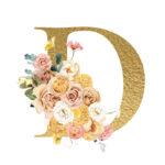 D Flower letter