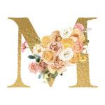 M Flower letter
