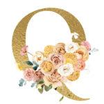 Q Flower letter