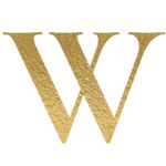 W gold letter