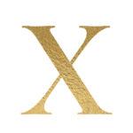 X gold letter
