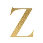Z gold letter